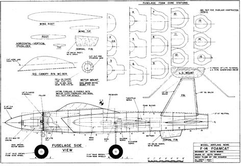 Rc Plane F 14 Free PDF Plans For Small